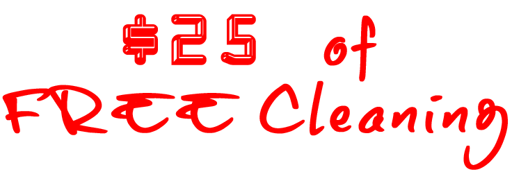 $25 of FREE Cleaning